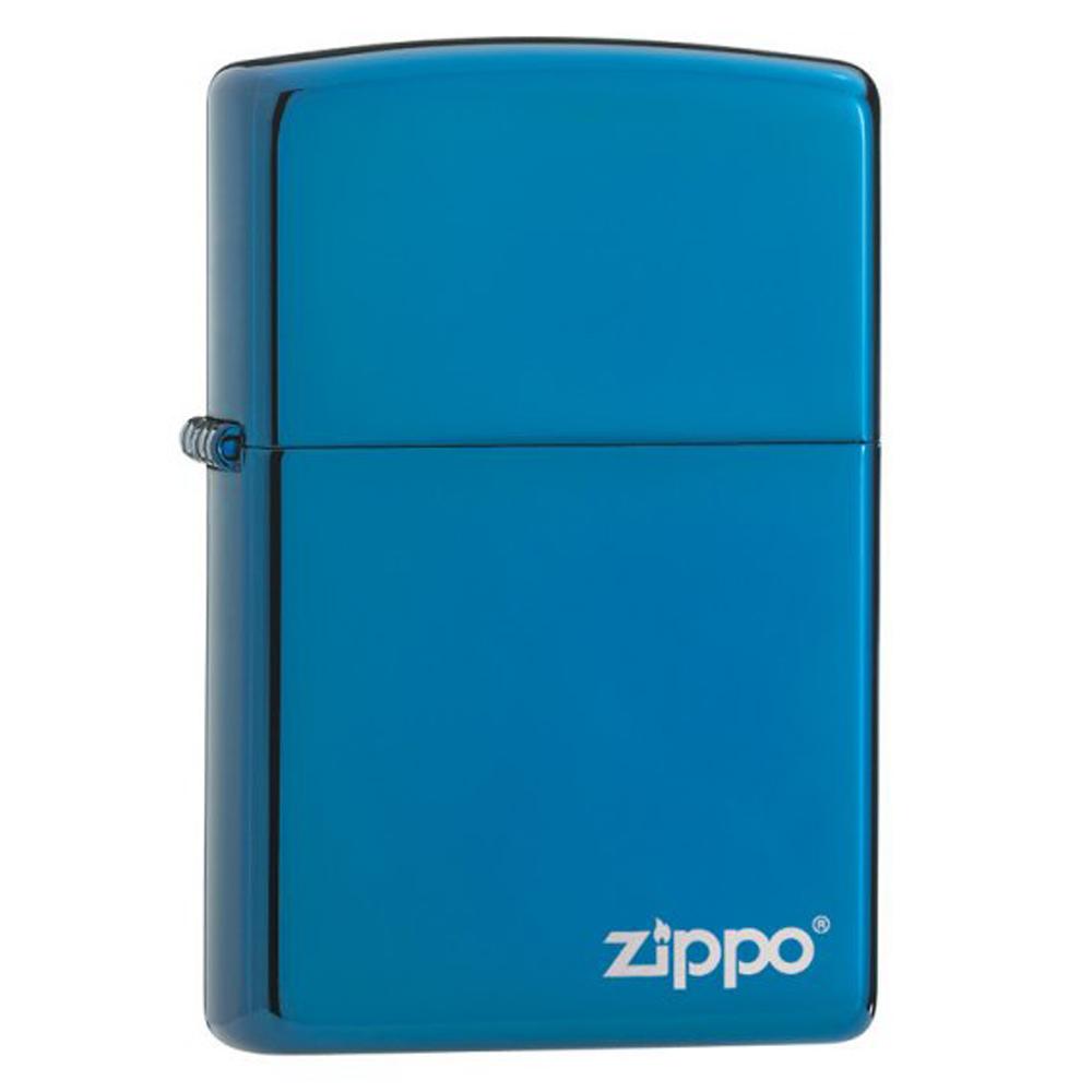 hop quet zippo Sapphire Blue Logo ntz383