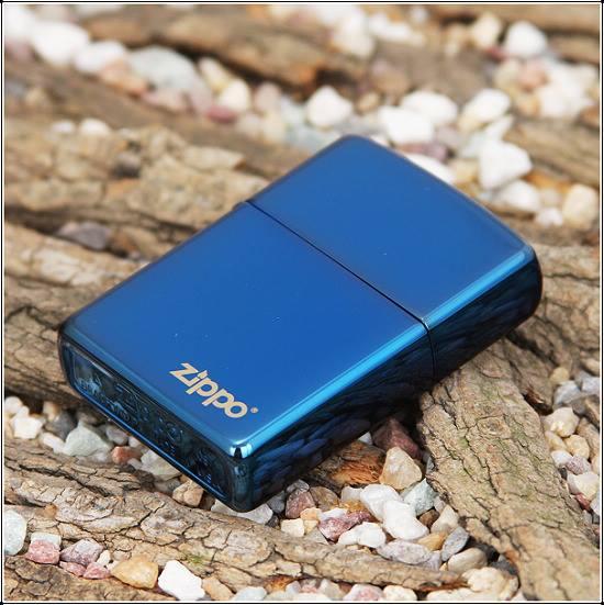 Zippo xanh saphire logo tron ntz985 2