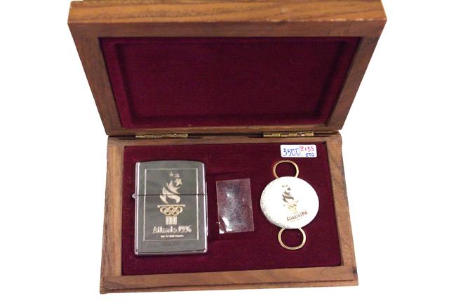 Hop quet zippo Atlanta 1996 doi XI Silver plate 14k gold ntz690