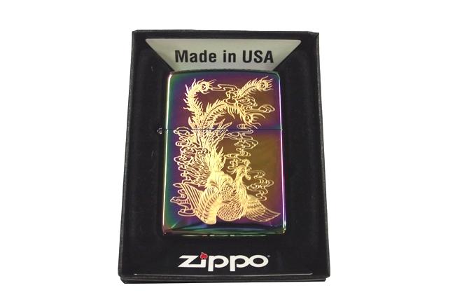 Zippo 7 mau dat vang hinh phung ntz979
