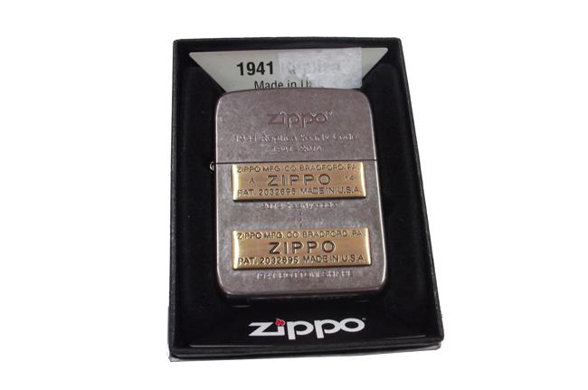 Zippo xuat nhat Replica 1941 bau den dap noi moc day zip vang ntz503