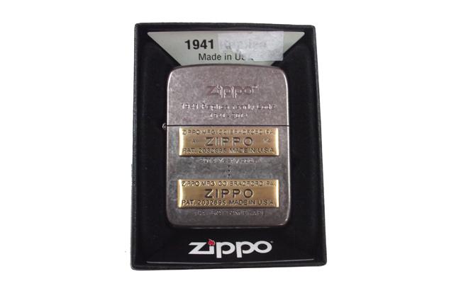 Zippo xuat nhat Replica 1941 bau den dap noi moc day zip vang ntz503 1