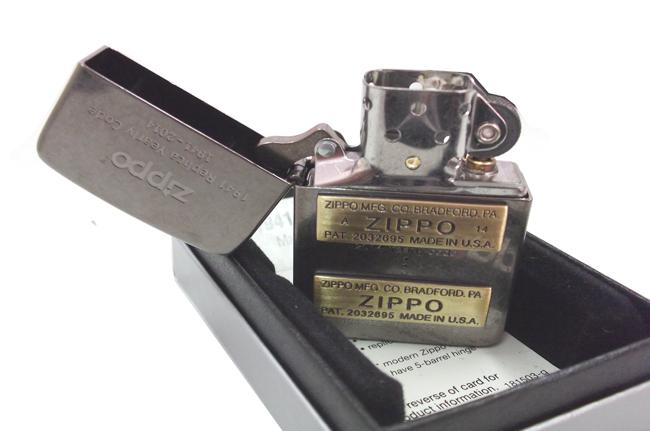 Zippo xuat nhat Replica 1941 bau den dap noi moc day zip vang ntz503 2