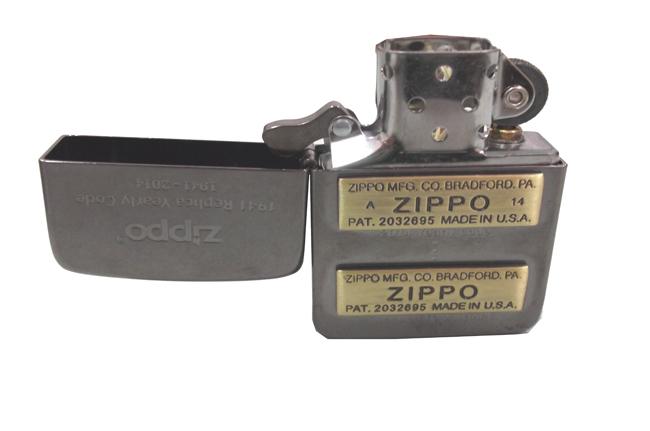 Zippo xuat nhat Replica 1941 bau den dap noi moc day zip vang ntz503 3