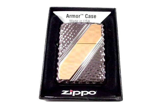 Zippo xuat nhat dong den Armor Cross Cut 2 ntz518