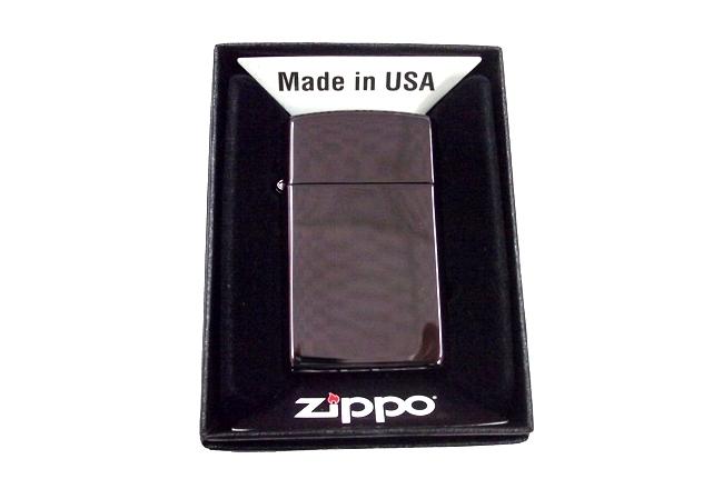 Zippo slim ebony den tuyen ntz609