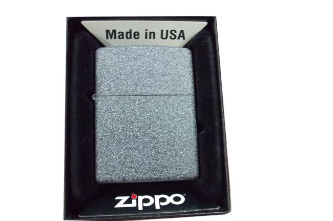 Hop quet Zippo iron stone xam da ntz965