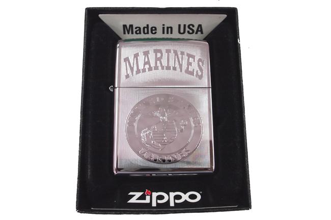 Zippo bong sau khac hinh Marines ntz039