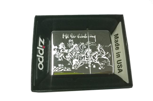 Bat lua zippo usa bong khac sieu sau 3d 1 mat hinh Ma dao thanh cong NTZ209