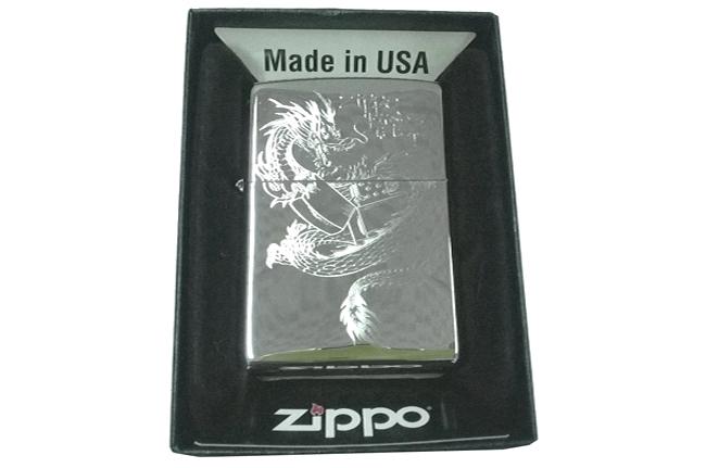 Bat lua zippo usa bong khac sieu sau 3d 1 mat hinh rong NTZ213