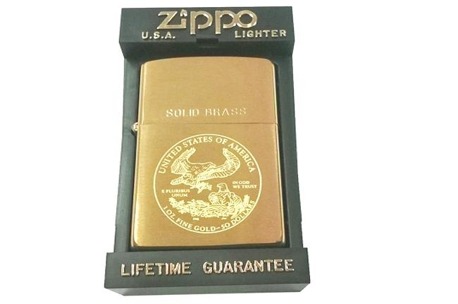 Zippo solid brass khac hinh dai bang My doi la ma IX (1993) ntz229