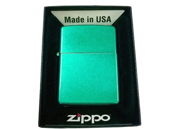 Hop quet Zippo son xanh kiwi bong ntz006