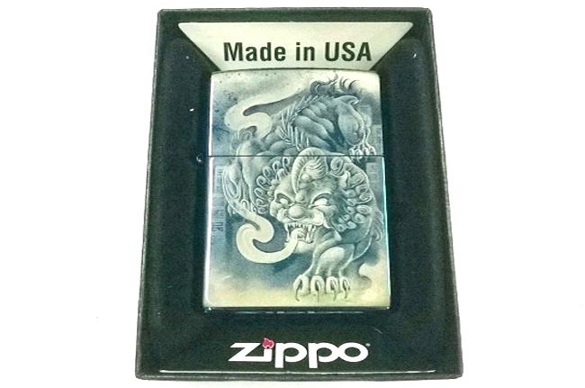 Hop quet Zippo xanh saphire 3D hinh manh thu ntz010
