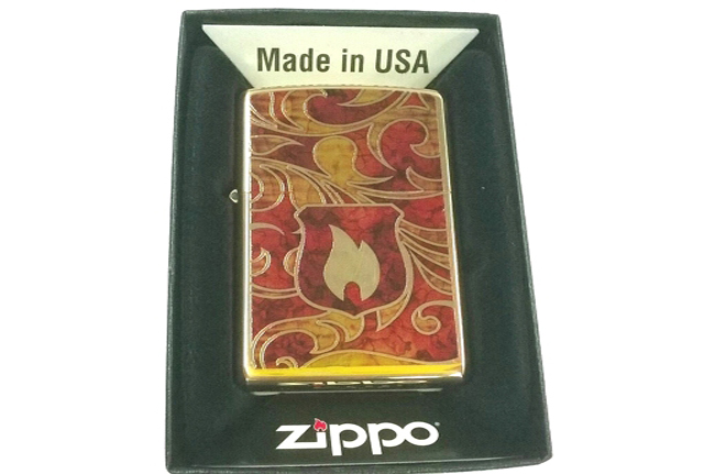 Bat lua zippo Shield son ngon lua  do NTZ016