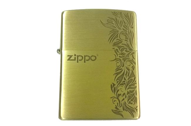 Zippo xuat Nhat dong thau khac 1 mat hoa van zippo ntz059 3