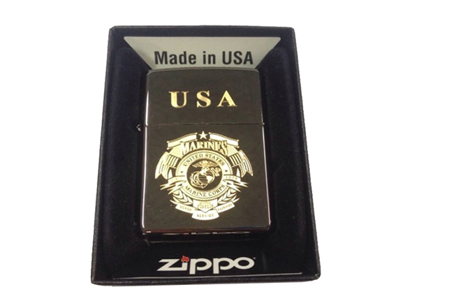 Zippo den bong dat hinh USA marine ntz130