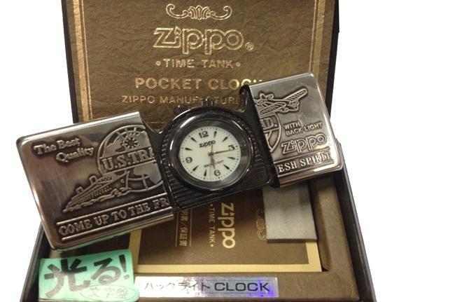 Zippo pocket clock dong ho bo tui ntz430