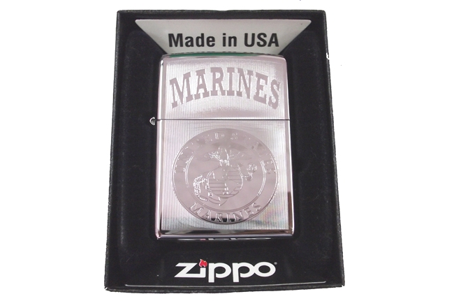 Zippo khac lazer 1 mat hinh Marines ntz039