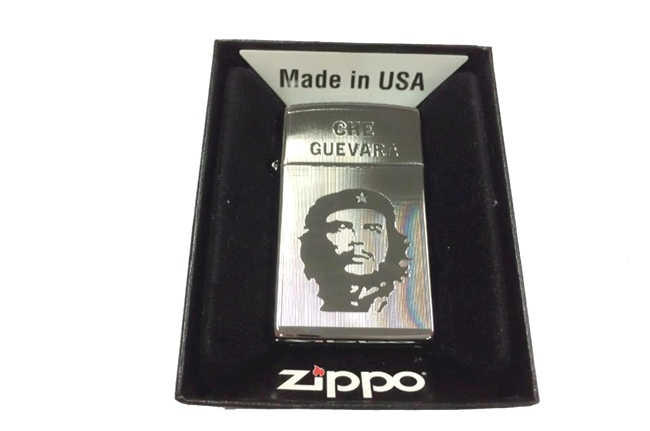 Zippo slim khac lazer 1 mat hinh Che ntz460