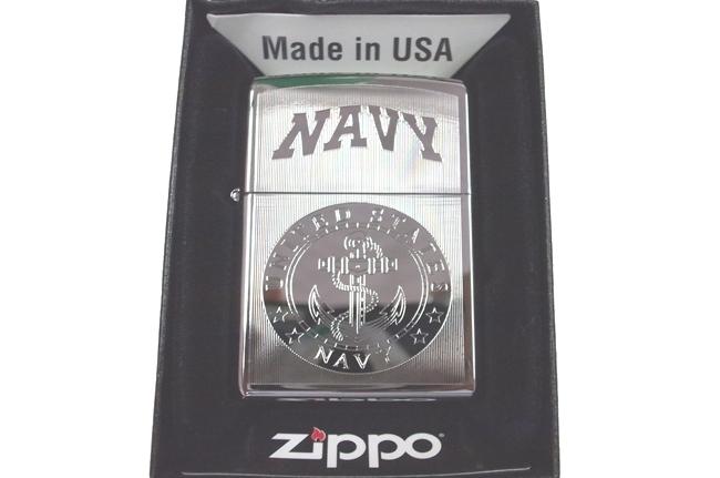 Zippo khac lazer 2 mat hinh Navy ntz021