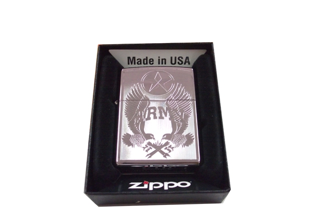 Zippo khac lazer 2 mat hinh Army  NTZ643