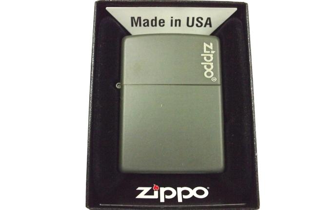 Hop quet Zippo son xanh linh logo ntz906