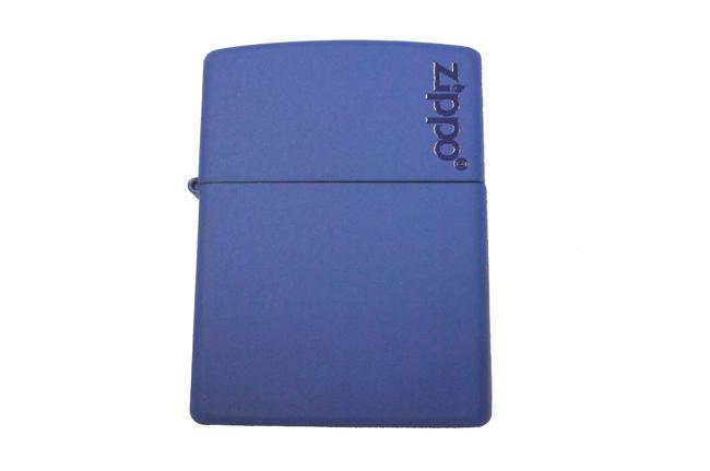 Hop quet Zippo son xanh duong logo ntz907 2