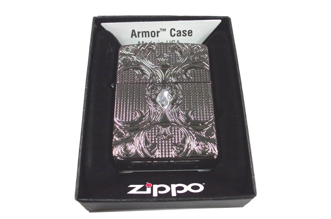 Zippo Armor black ice crystal Lattice ntz615