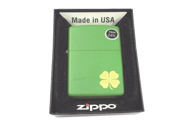 Hop quet Zippo co  la son xanh ntz474