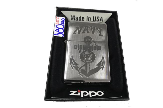Zippo khac lazer 1 mat Navy ntz482