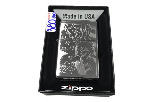 Zippo khac lazer 1 mat dai bang co my ntz485