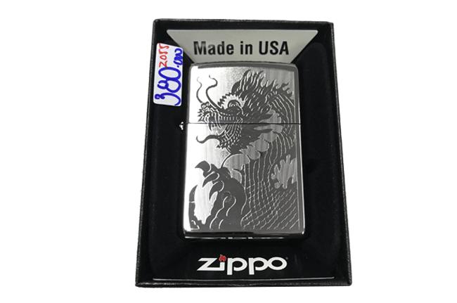 Zippo khac lazer 1 mat hinh rong ntz489