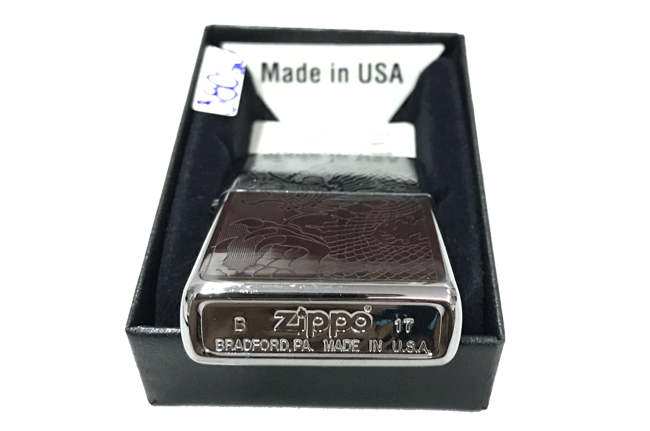 Zippo khac lazer 1 mat hinh rong ntz489 3