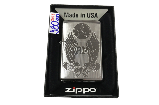 Zippo khac lazer 1 mat hinh army ntz491