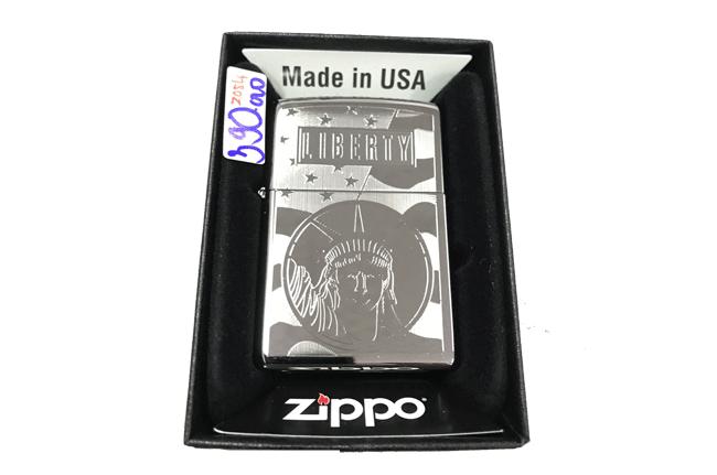 Zippo khac lazer 2 mat hinh liberty ntz494