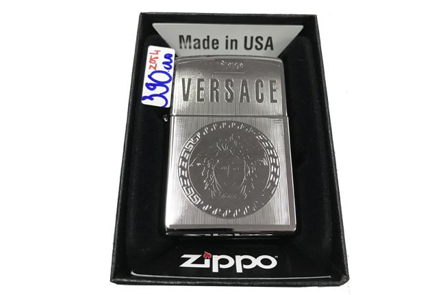 Zippo khac lazer 2 mat hinh versace ntz496