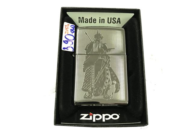 Zippo khac lazer 2 mat hinh quan cong ntz498