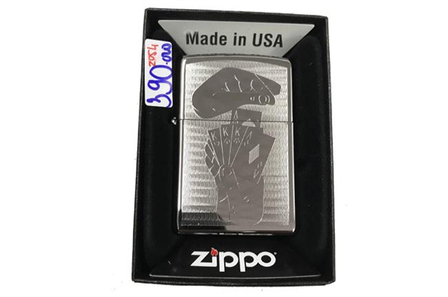 Zippo khac lazer 2 mat hinh lucky ntz499
