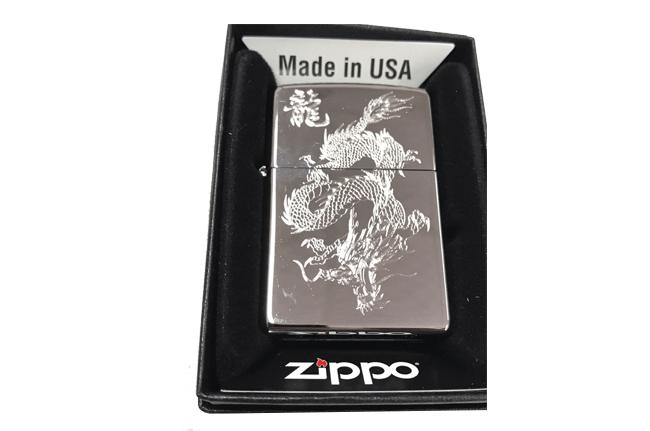 Bat lua zippo usa bong khac sieu sau 3d 1 mat hinh rong NTZ524