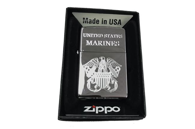 Bat lua zippo usa bong khac sieu sau 3d 1 mat hinh Marines NTZ530