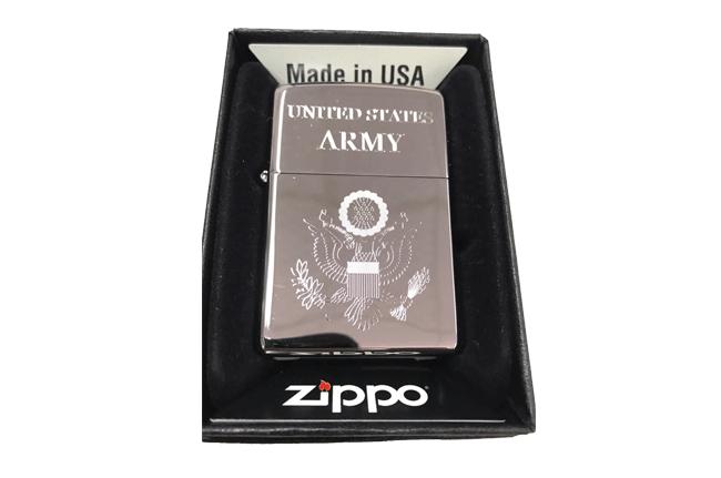 Bat lua zippo usa bong khac sieu sau 3d 1 mat hinh Army NTZ531