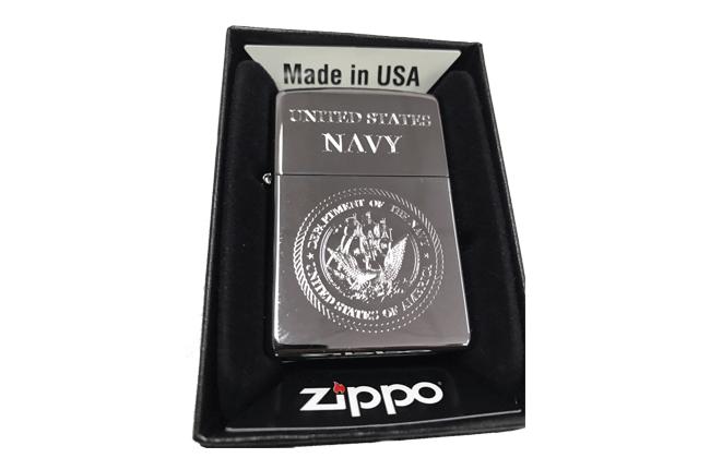 Bat lua zippo usa bong khac sieu sau 3d 1 mat hinh Navy NTZ533