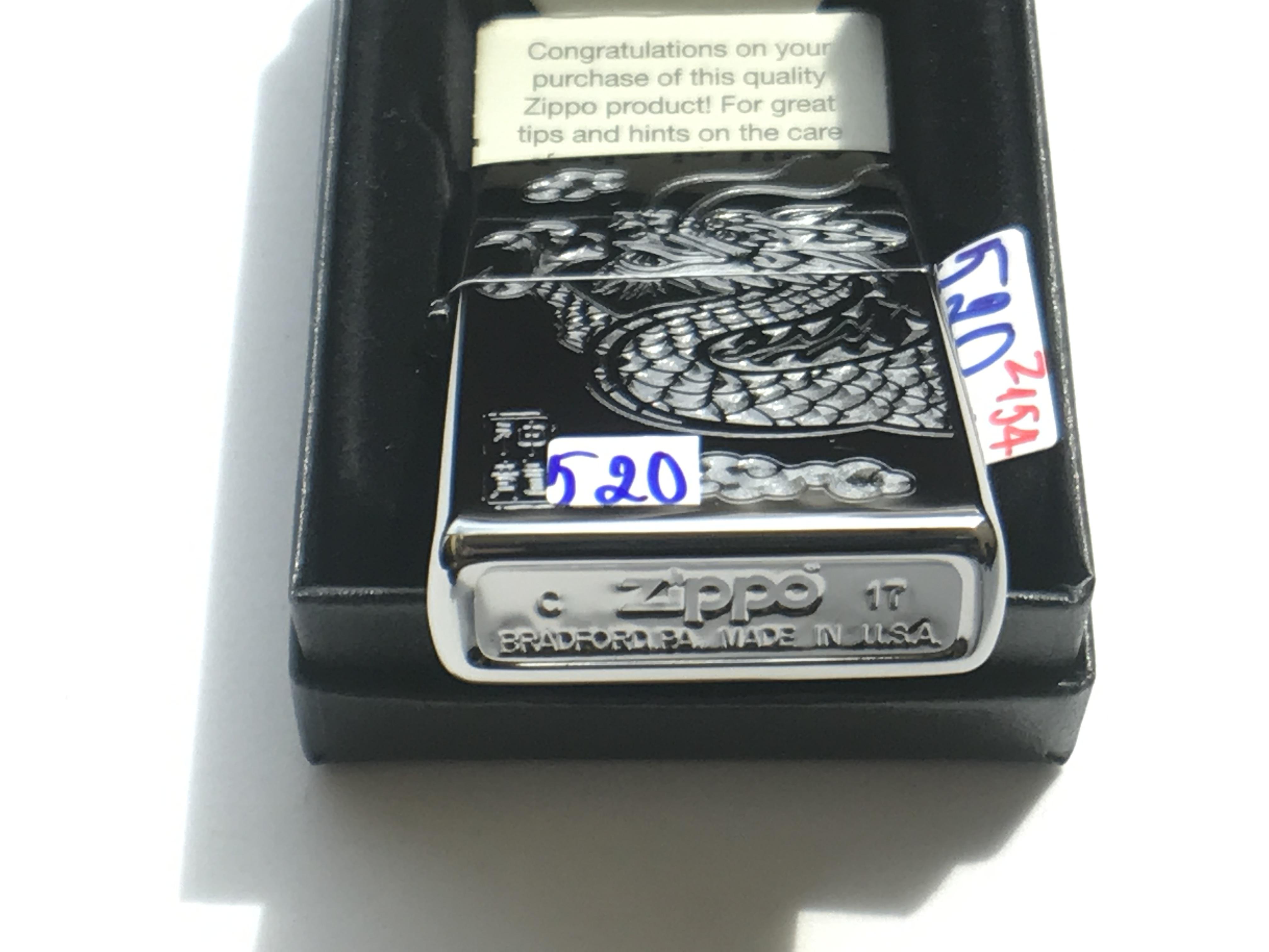 Zippo khac 3D 2 mat hinh dau rong ntz547 2
