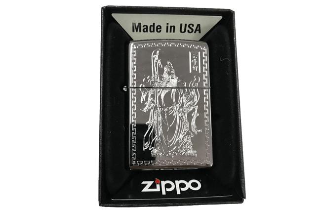 Zippo khac 3D 2 mat hinh quan cong ntz549