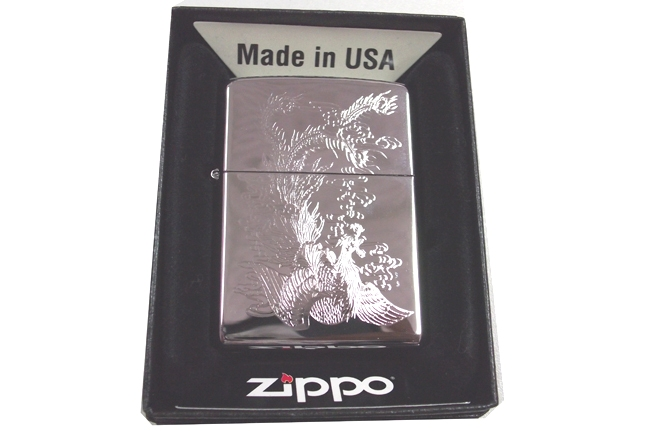 Zippo khac 3D 2 mat hinh phung ntz551