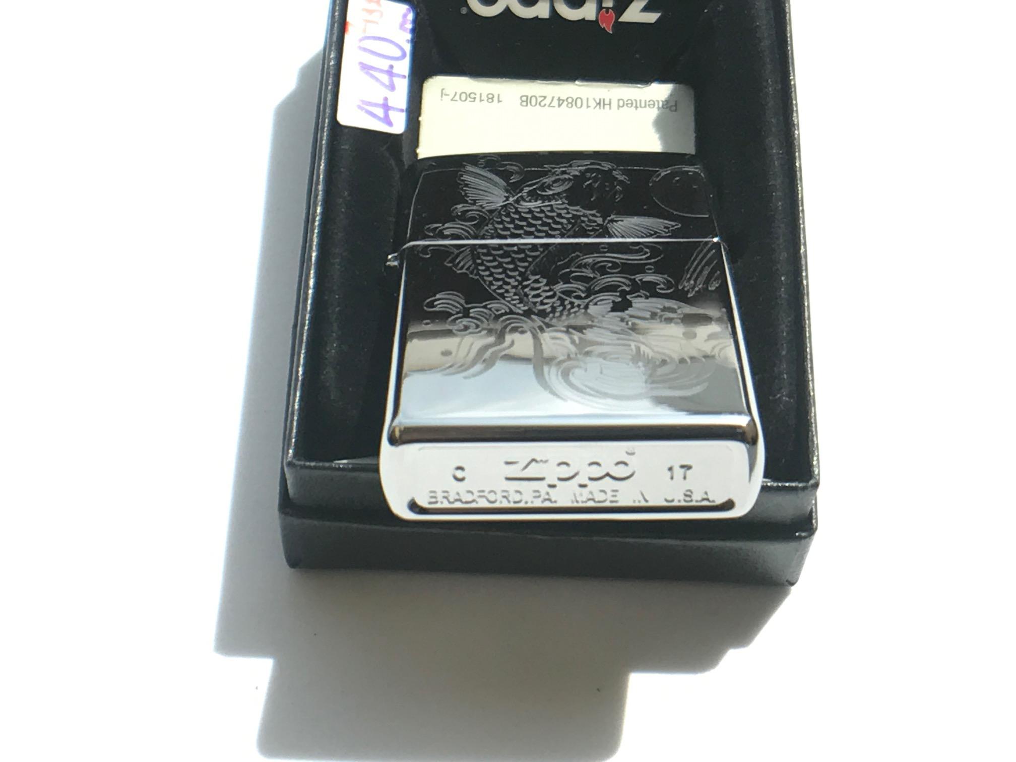 Zippo khac 3D 1 mat hinh ca chep NTZ554 2