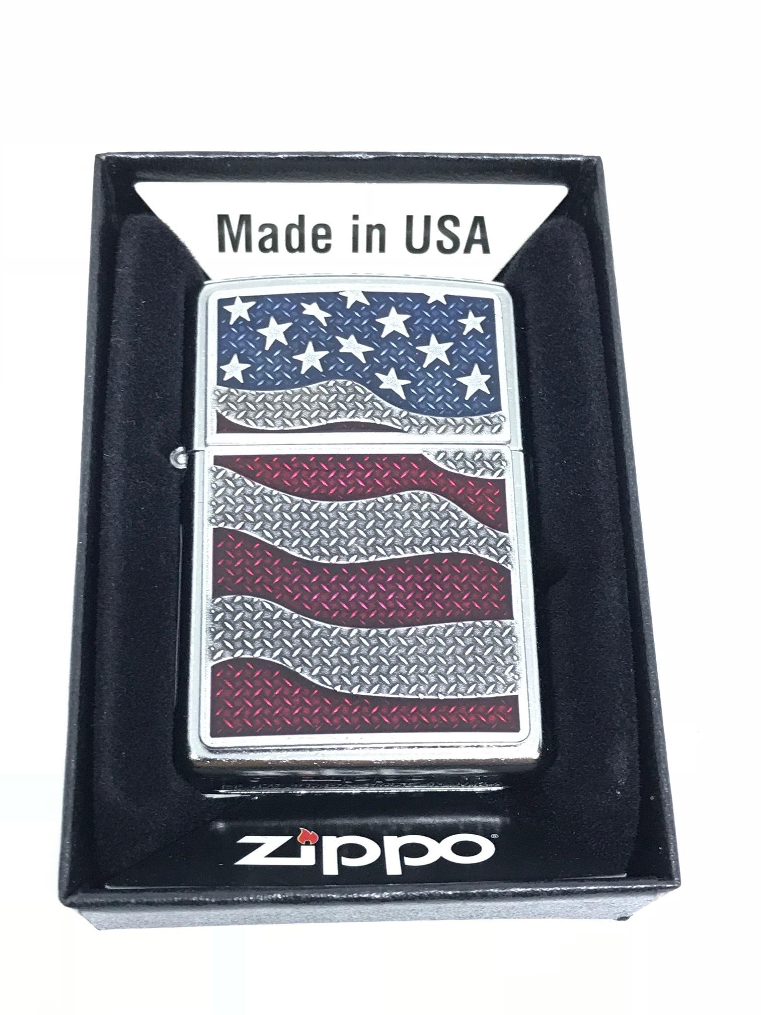 Zippo diamond plate flag ntz570 2