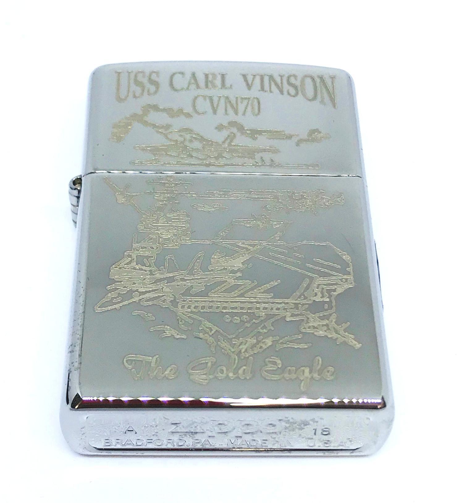 Hop quet zippo bong trang khac laze USS CARL VINSON CVN70 Z603