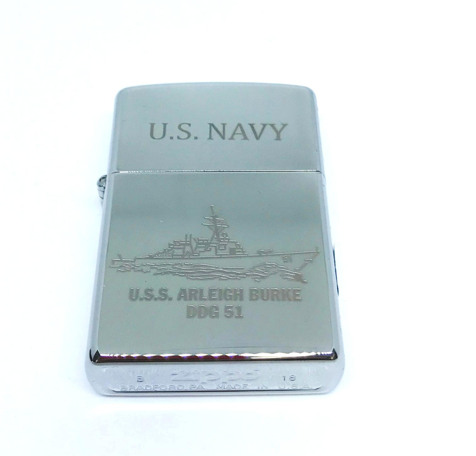 Hop quet zippo bong trang khac laze U.S.NAVY Z604 2