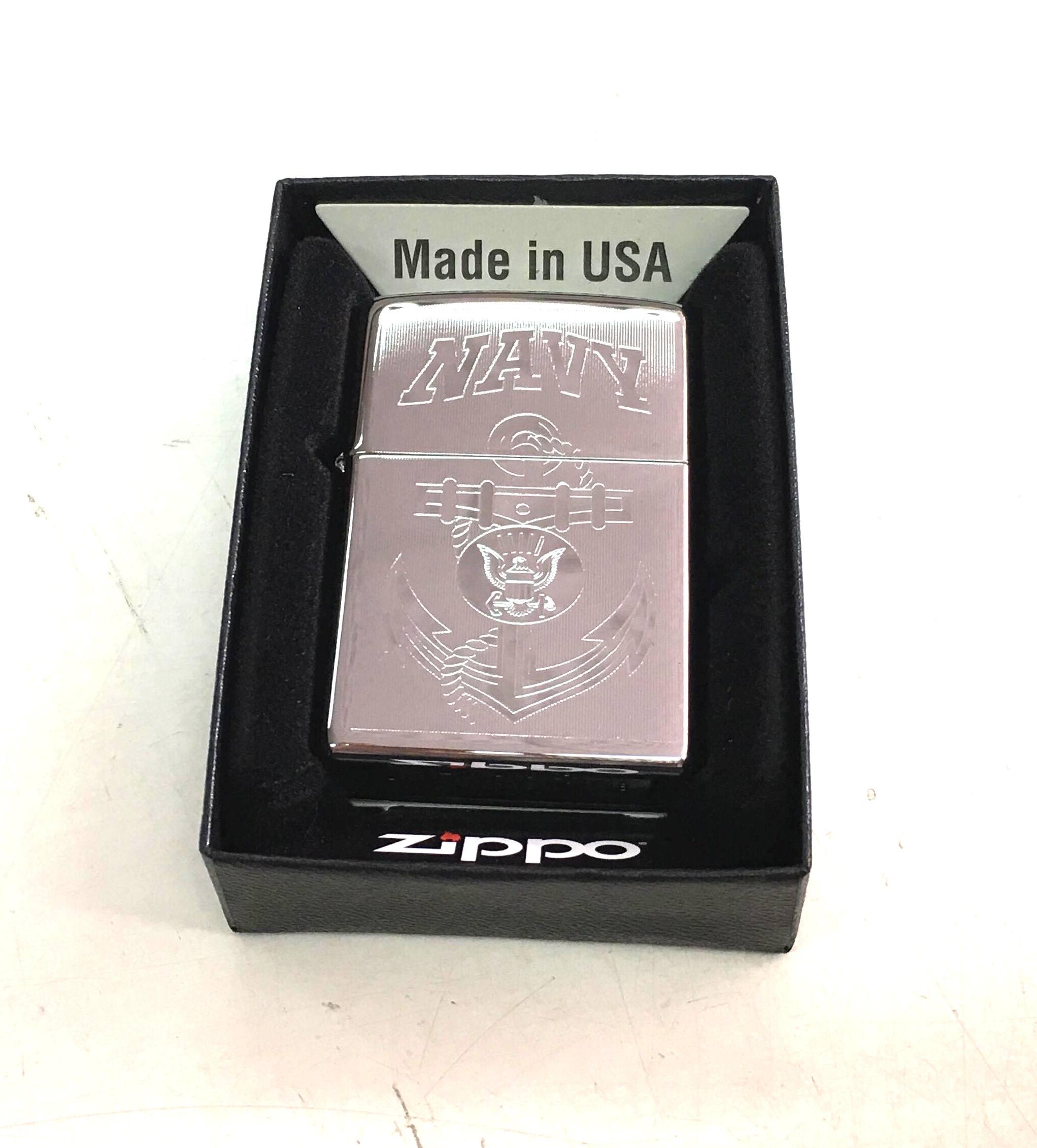 Zippo bong suot khac 2 mat mui neo NAVY Z648